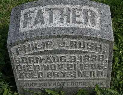 RUSH, PHILIP J. - Morrow County, Ohio | PHILIP J. RUSH - Ohio Gravestone Photos