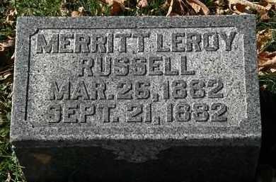 RUSSELL, MERRITT LEROY - Morrow County, Ohio | MERRITT LEROY RUSSELL - Ohio Gravestone Photos