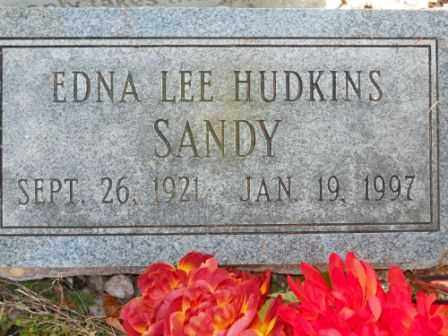 SANDY, EDNA LEE HUDKINS - Morrow County, Ohio | EDNA LEE HUDKINS SANDY - Ohio Gravestone Photos