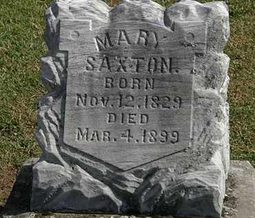 SAXTON, MARY - Morrow County, Ohio | MARY SAXTON - Ohio Gravestone Photos