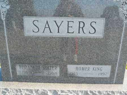 SAYERS, HOMER KING - Morrow County, Ohio | HOMER KING SAYERS - Ohio Gravestone Photos