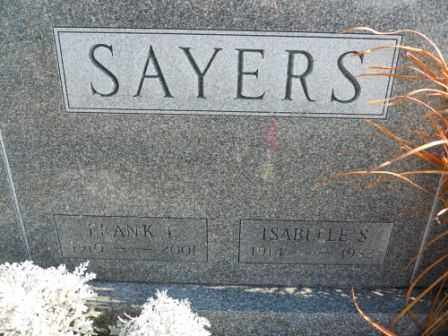 SAYERS, ISABELLE S - Morrow County, Ohio | ISABELLE S SAYERS - Ohio Gravestone Photos