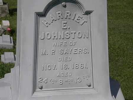 JOHNSTON SAYERS, HARRIET E. - Morrow County, Ohio | HARRIET E. JOHNSTON SAYERS - Ohio Gravestone Photos