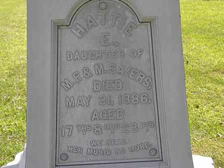 SAYERS, HATTIE E. - Morrow County, Ohio | HATTIE E. SAYERS - Ohio Gravestone Photos
