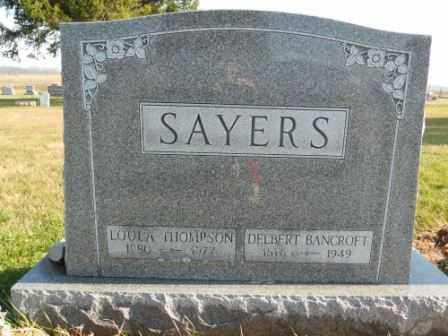 SAYERS, DELBERT BANCROFT - Morrow County, Ohio | DELBERT BANCROFT SAYERS - Ohio Gravestone Photos