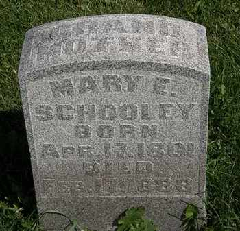 SCHOOLEY, MARY E. - Morrow County, Ohio | MARY E. SCHOOLEY - Ohio Gravestone Photos