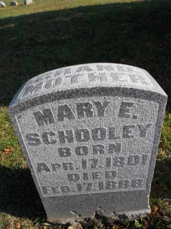 SCHOOLEY, MARY E - Morrow County, Ohio | MARY E SCHOOLEY - Ohio Gravestone Photos
