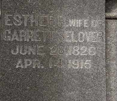 SELOVER, ESTHER R. - Morrow County, Ohio | ESTHER R. SELOVER - Ohio Gravestone Photos