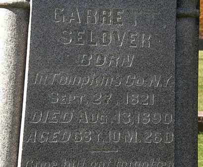 SELOVER, GARRETT - Morrow County, Ohio | GARRETT SELOVER - Ohio Gravestone Photos