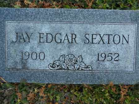 SEXTON, JAY EDGAR - Morrow County, Ohio | JAY EDGAR SEXTON - Ohio Gravestone Photos