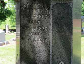 SHARROCK, SARAH JANE - Morrow County, Ohio | SARAH JANE SHARROCK - Ohio Gravestone Photos