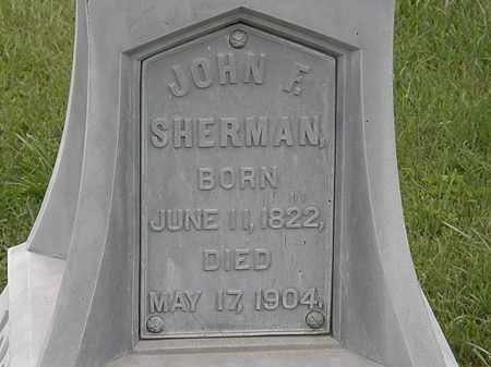 SHERMAN, JOHN F. - Morrow County, Ohio | JOHN F. SHERMAN - Ohio Gravestone Photos