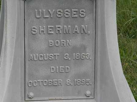 SHERMAN, ULYSSES - Morrow County, Ohio | ULYSSES SHERMAN - Ohio Gravestone Photos