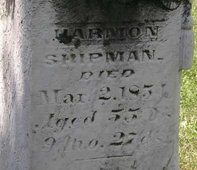 SHIPMAN, HARMON - Morrow County, Ohio | HARMON SHIPMAN - Ohio Gravestone Photos