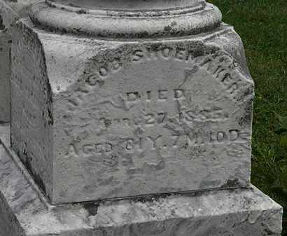 SHOEMAKER, JACOB - Morrow County, Ohio | JACOB SHOEMAKER - Ohio Gravestone Photos