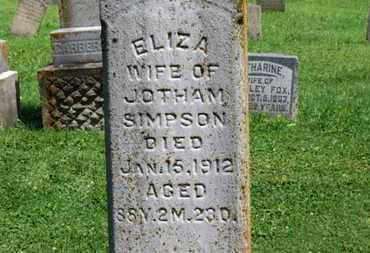 SIMPSON, ELIZA - Morrow County, Ohio | ELIZA SIMPSON - Ohio Gravestone Photos
