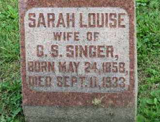 SINGER, SARAH LOUISE - Morrow County, Ohio | SARAH LOUISE SINGER - Ohio Gravestone Photos