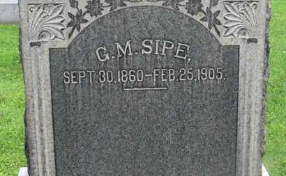 SIPE, G.M. - Morrow County, Ohio | G.M. SIPE - Ohio Gravestone Photos