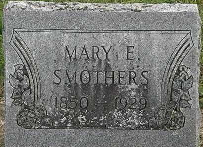 SMOTHERS, MARY E. - Morrow County, Ohio | MARY E. SMOTHERS - Ohio Gravestone Photos