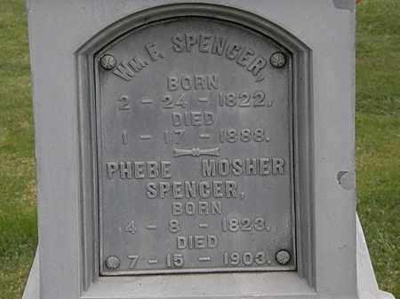 MOSHER SPENCER, PHEBE - Morrow County, Ohio | PHEBE MOSHER SPENCER - Ohio Gravestone Photos