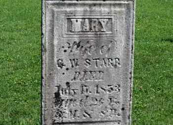 STARR, MARY - Morrow County, Ohio | MARY STARR - Ohio Gravestone Photos
