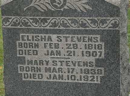 STEVENS, ELISHA - Morrow County, Ohio | ELISHA STEVENS - Ohio Gravestone Photos