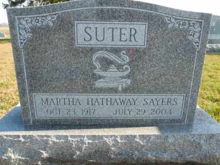 SUTER, MARTHA HATHAWAY SAYERS - Morrow County, Ohio | MARTHA HATHAWAY SAYERS SUTER - Ohio Gravestone Photos