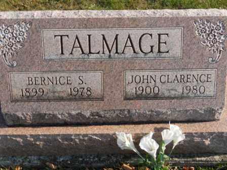TALMAGE, JOHN CLARENCE - Morrow County, Ohio | JOHN CLARENCE TALMAGE - Ohio Gravestone Photos