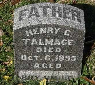 TALMAGE, HENRY G. - Morrow County, Ohio | HENRY G. TALMAGE - Ohio Gravestone Photos