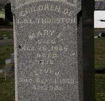 THURSTON, MARY L. - Morrow County, Ohio   MARY L. THURSTON - Ohio Gravestone Photos