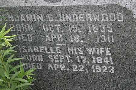 UNDERWOOD, ISABELLE - Morrow County, Ohio | ISABELLE UNDERWOOD - Ohio Gravestone Photos