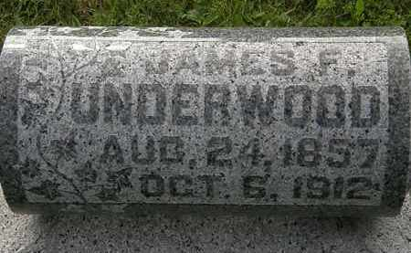 UNDERWOOD, JAMES F. - Morrow County, Ohio | JAMES F. UNDERWOOD - Ohio Gravestone Photos