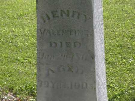 VALENTINE, HENRY - Morrow County, Ohio | HENRY VALENTINE - Ohio Gravestone Photos