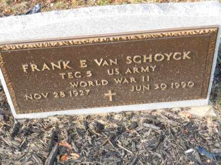 VAN SCHOYCK, FRANK E - Morrow County, Ohio | FRANK E VAN SCHOYCK - Ohio Gravestone Photos