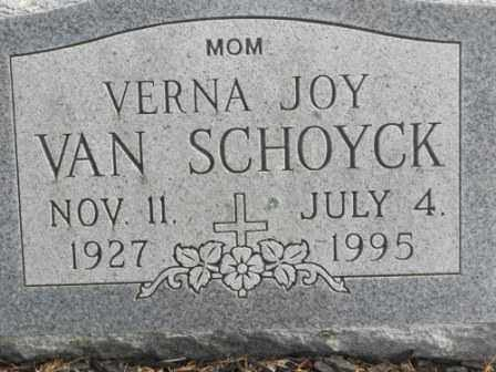 VAN SCHOYCK, VERNA JOY - Morrow County, Ohio | VERNA JOY VAN SCHOYCK - Ohio Gravestone Photos