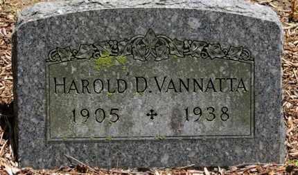 VANNATTA, HAROLD D. - Morrow County, Ohio | HAROLD D. VANNATTA - Ohio Gravestone Photos
