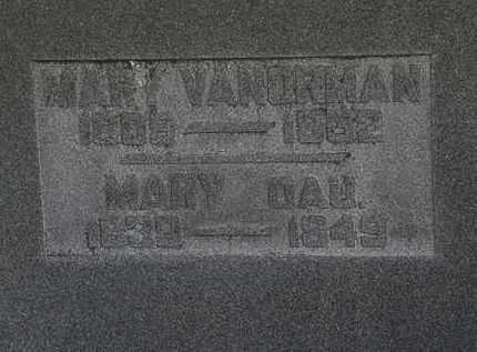 VANORMAN, MARY - Morrow County, Ohio | MARY VANORMAN - Ohio Gravestone Photos