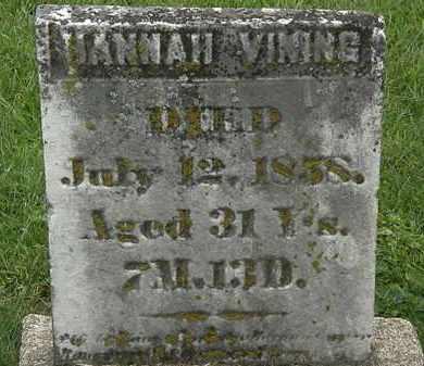 VINING, HANNAH - Morrow County, Ohio | HANNAH VINING - Ohio Gravestone Photos