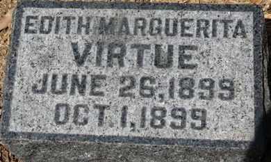 VIRTUE, EDITH MARGUERITA - Morrow County, Ohio | EDITH MARGUERITA VIRTUE - Ohio Gravestone Photos