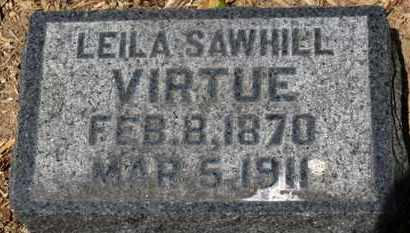 SAWHILL VIRTUE, LEILA - Morrow County, Ohio | LEILA SAWHILL VIRTUE - Ohio Gravestone Photos