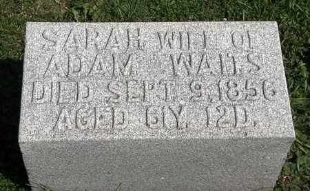 WAITS, SARAH - Morrow County, Ohio | SARAH WAITS - Ohio Gravestone Photos