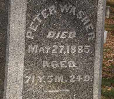 WASHER, PETER - Morrow County, Ohio | PETER WASHER - Ohio Gravestone Photos
