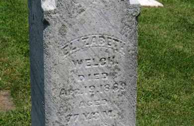 WELCH, ELIZABETH - Morrow County, Ohio | ELIZABETH WELCH - Ohio Gravestone Photos