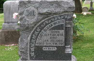 WERTS, LUCY - Morrow County, Ohio | LUCY WERTS - Ohio Gravestone Photos
