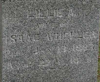 WHEELER, LILLIE A. - Morrow County, Ohio | LILLIE A. WHEELER - Ohio Gravestone Photos