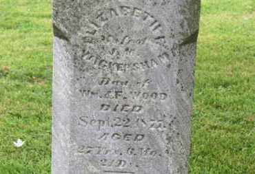 WICKERSHAM, ELIZABETH - Morrow County, Ohio | ELIZABETH WICKERSHAM - Ohio Gravestone Photos