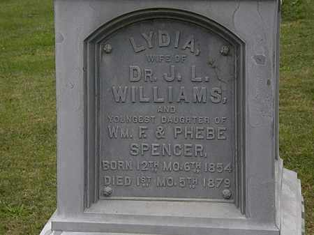SPENCER WILLIAMS, LYDIA - Morrow County, Ohio | LYDIA SPENCER WILLIAMS - Ohio Gravestone Photos