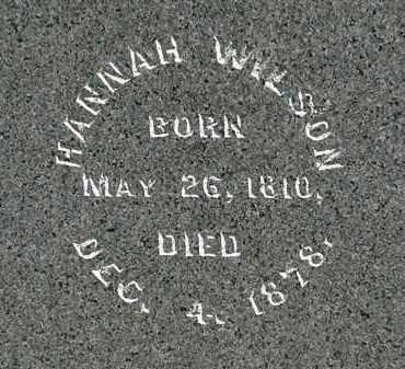 WILSON, HANNAH - Morrow County, Ohio   HANNAH WILSON - Ohio Gravestone Photos