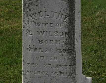 WILSON, WELTHY - Morrow County, Ohio | WELTHY WILSON - Ohio Gravestone Photos
