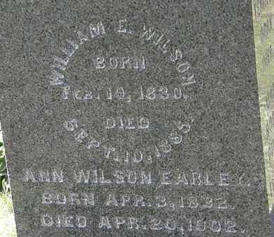 WILSON, WILLIAM E. - Morrow County, Ohio | WILLIAM E. WILSON - Ohio Gravestone Photos
